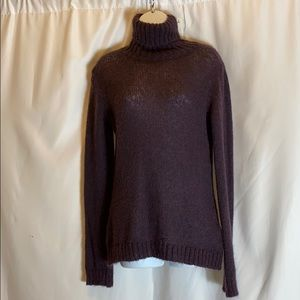 Deep plum Purple  Large Zara Roll Down Turtleneck